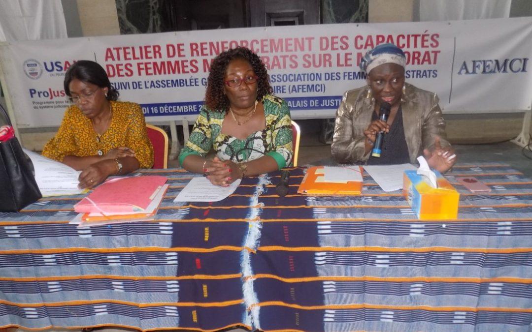 Le mentorat pour renforcer la présence des femmes magistrats en Côte-d'Ivoire